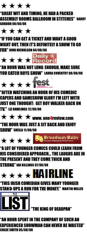 roy walker at the Edinburgh Fringe 2008